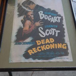 Framed old movie poster repros